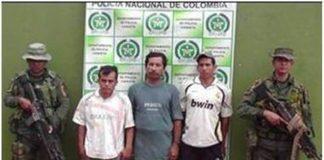 Durante los operativos fueron capturados a tres sujetos.