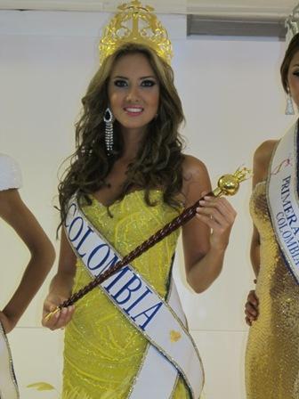 Daniella Álvarez, señorita Colombia llega a tierra opita.