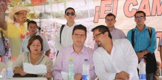 Víctor isidro Ramírez, Gobernador de caquetá, en compañía del alcalde Domingo Pérez