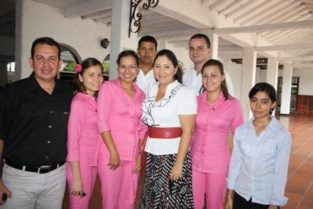 El personal administrativo del Club Campestre de Neiva le festejó con un almuerzo el cumpleaños a Yudy Lorena Jiménez Ossa,