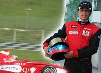 1l piloto vallecaucano Óscar Andrés Tunjo fue presentado como nuevo miembro del Lotus IRace Profesional Academy,