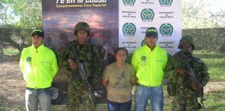 Adelaida Bermúdez Alarcón, alias 'Aleida', integrante de las Farc, al parecer adelantaba desde su tienda labores de inteligencia y suministraba víveres a la agrupación.