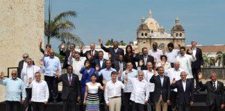 Las Jefas y los Jefes de Estado y de Gobierno de las Américas, en el marco de la Sexta Cumbre de las Américas.