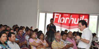 El foro sobre los efectos del TLC en el sector arrocero se llevó a cabo ayer en el municipio de Campoalegre.