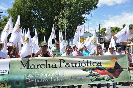 El Huila se pronuncia con la marcha patriótica