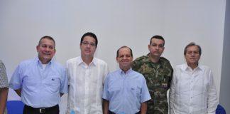 Armando Cuéllar, Jorge 'Tito' Murcia, Salvador Gómez, coronel Leonardo Díaz y Aníbal Rodríguez.
