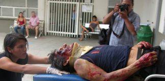 Daniel Gutiérrez Amaya, herido. Foto LA NACION