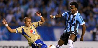 Gremio de Brasil salió adelante por 1-0 en su duelo de cuartos de final de la Copa Sudamericana 2012 con Millonarios de Colombia