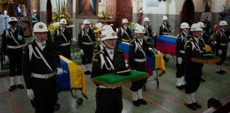 Con un acto litúrgico en Cali fueron despedidos ayer los seis policías que fueron asesinados por el Sexto Frente de las Farc en el norte del Cauca.