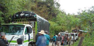 La avalancha destruyó cultivos y causó la muerte de un campesino y dejó herido a otro.