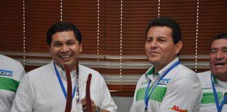 El alcalde de Neiva Pedro Hernán Suárez Trujillo felicitó a la delegación de periodistas que asistió en representación del Huila a los XIII Juegos Acord Colombia, realizados en Bogotá.