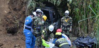 Los organismos de socorro recuperaron el cuerpo de Daniel Plazas Ramírez, quien murió atrapado por el alud que cayó en la vía Neiva-Balsillas (Caquetá).