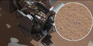 La primera muestra procedente del interior de una roca marciana.
