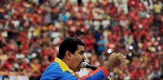 El presidente encargado y candidato Nicolás Madura, en una manifestación en Barinas.