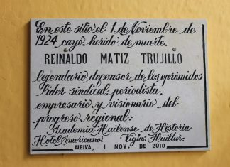 El sitio donde cayó Reynaldo Matiz