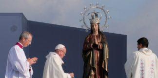 El Sumo Pontífice durante la celebración eucarística en el Parque Metropolitano Simón Bolívar.