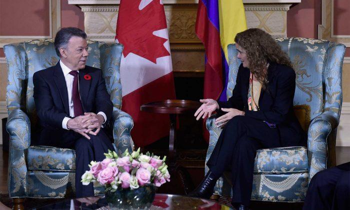 Santos agradece a Canadá su apoyo al proceso de paz colombiano