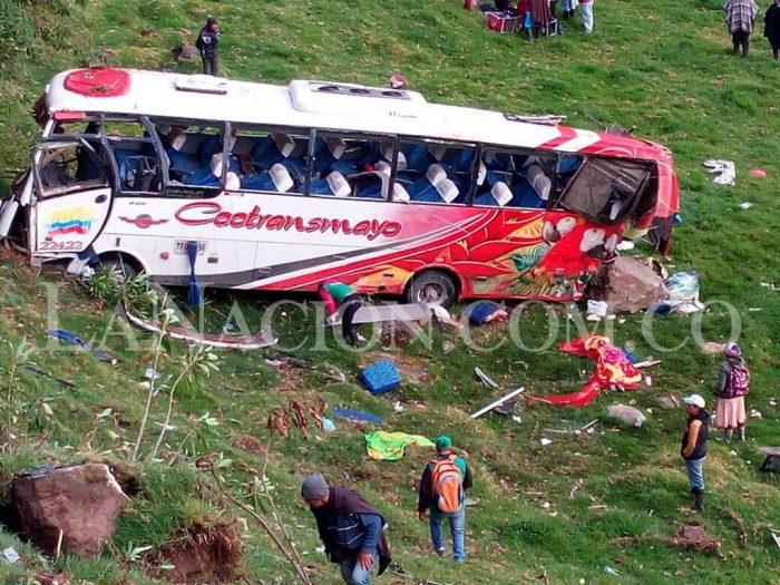 Pitalito: Trágico accidente de bus de Cootransmayo en la vía Popayán