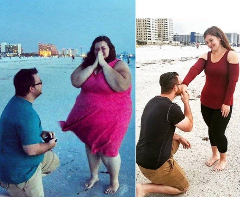 El secreto de la pareja que bajó casi 200 kilos — Fotos