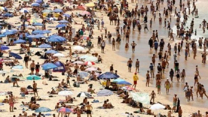 El mar se congeló por el ciclón bomba en Estados Unidos