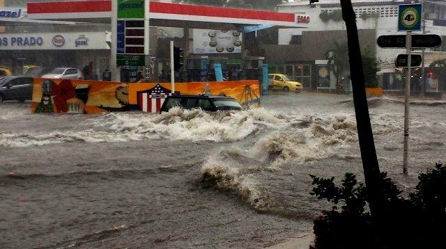 Reportan un menor desaparecido tras fuerte aguacero en Barranquilla