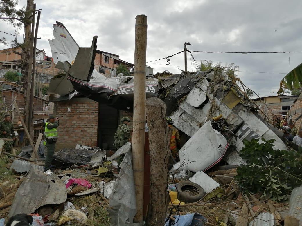 Siete personas fallecieron en accidente de avioneta — Tragedia en Popayán