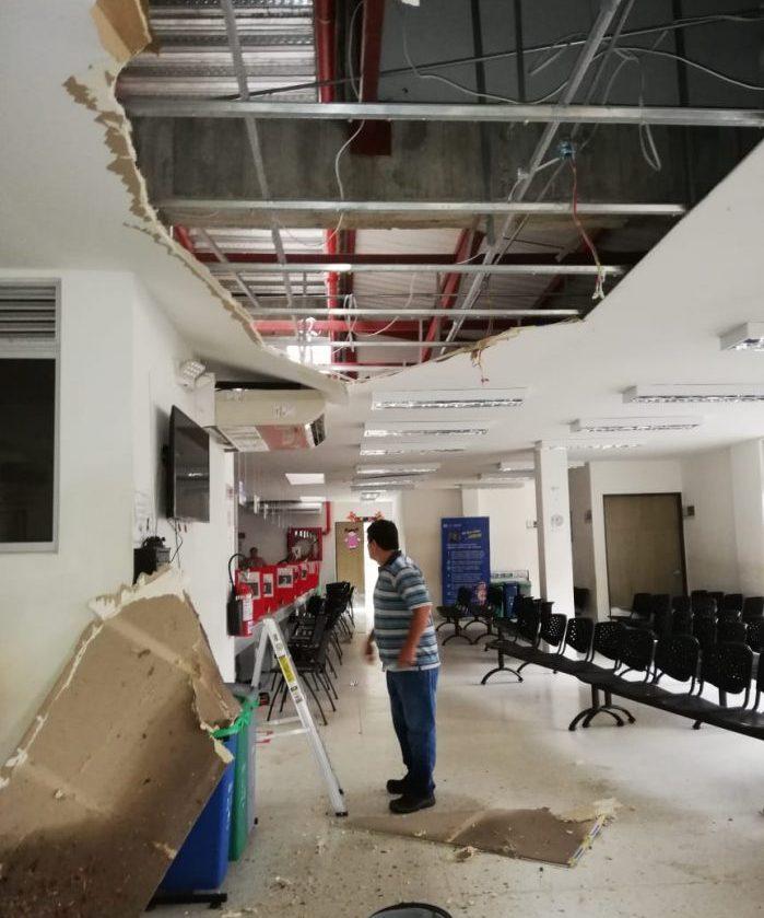 Se desplomó el techo en el Centro de Atención a Víctimas 1 8 abril, 2020