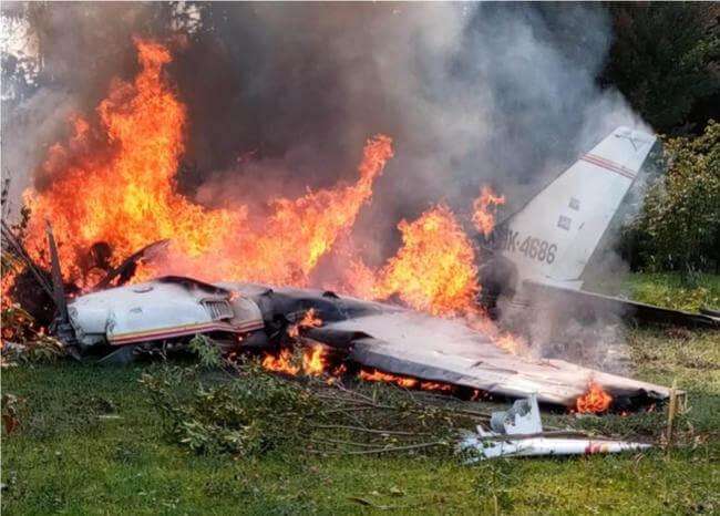 Accidente aéreo dejó 4 personas muertas 1 10 abril, 2020