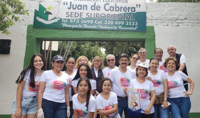Rotarios pintaron sueños en el Juan de Cabrera 1 30 marzo, 2020