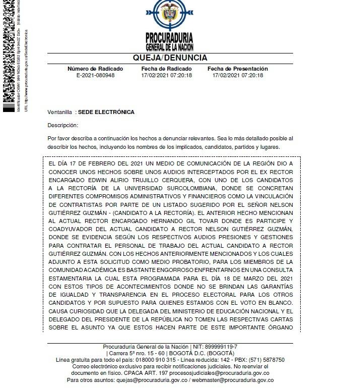 Nuevo escándalo por tráfico de influencias en la Usco 8 18 febrero, 2021